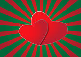 Double Hearts Background — 图库矢量图片