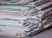 Stack of old newspaper — Stock Photo
