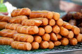 Stack of Grill hotdog — Stock Photo