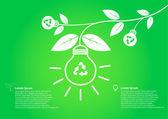 Tree bulb save world concept — Stock Vector