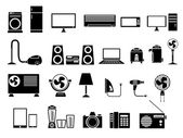 Set of Electronics Icon Vector Illustration — Stock Vector