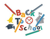 Abstract Back to School Background — Stock Vector