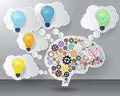 Brain Think Concept — Stock Vector