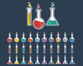Laboratory Glass Icon Set — Wektor stockowy