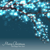 Winter tree background with a space for text — Stock Vector