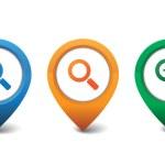 Search icon vector illustration — Stock Vector