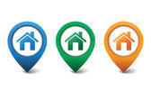 3D home icon design vector illustration — Stock Vector