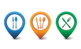 3D restaurant icon design vector illustration — Stockvektor