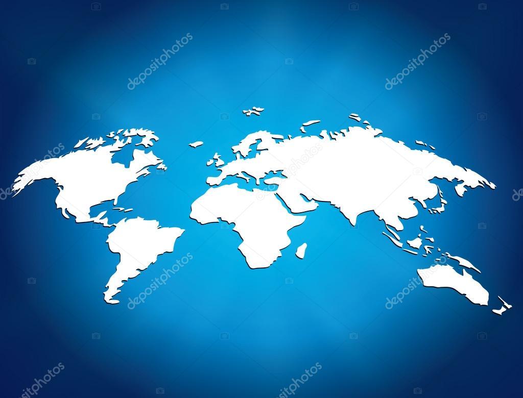 发光的世界地图矢量图