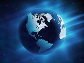 Glowing Globe vector illustration — Stock Vector