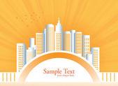 City landscape vector illustration — Stock Vector