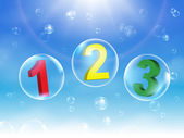 Colorful Number Bubbles vector illustration — Stock Vector