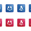 Red and Blue Reading icons — Stock Vector #35571159