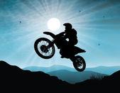 Motorsport in sunset background — Stock Vector
