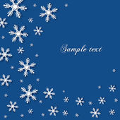 Abstract snowflakes background with a space for text — Stockvector