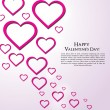 Valentine Day Greeting Card vector Illustration — Imagens vectoriais em stock