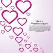 Valentine Day Greeting Card vector Illustration — Stockvektor