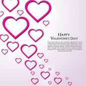 Valentine Day Greeting Card vector Illustration — Stock Vector