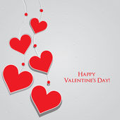 Valentine Day Greeting Card vector Illustration — Wektor stockowy