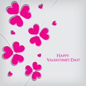 Valentine Day Greeting Card vector Illustration — Cтоковый вектор