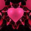 Pink Valentine Heart Fractal — Stock Photo