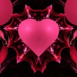 Pink Valentine Heart Fractal — Stock Photo #36366973
