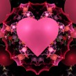 Colorful Valentine Heart Fractal  — Foto Stock