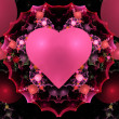 Colorful Valentine Heart Fractal  — Stock fotografie