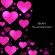 Valentine Day Greeting Card Vector background — Imagens vectoriais em stock