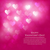 Valentine Day abstract background with bokeh lights and space for text — Stock Vector