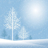 Stylish winter holiday design with copy space vector illustration — Vector de stock