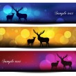 Christmas banner background with reindeer vector illustration — Stock Photo #37139311