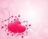 Zarif pembe Sevgiliye arka plan — Stok Vektör