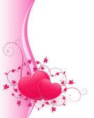 Elegant Pink Valentine Background — Stock Vector