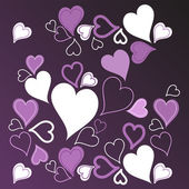 Purple hearts background — Stock Vector