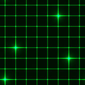Seamless green grid with stars — Stock Vector