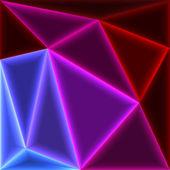 Glow triangles — Stock Vector