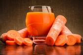 杯胡萝卜汁 — 图库照片