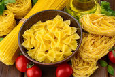 Various shapes of pasta — Stock Photo