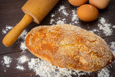 Baking bread background close up shoot — Stock Photo