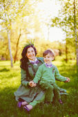 Happy mother and her smiling son — Stock Photo