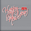 Happy new year hand lettering. — Stock Vector