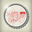 2014 Happy new year hand lettering — Stock Vector
