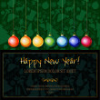 Happy New Year card — Stock vektor