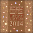2014 Merry Christmas and Happy New Year card — Stock vektor