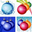 Background set with Christmas balls — Imagen vectorial