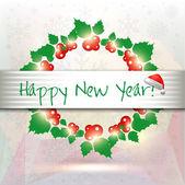 Happy New Year card — Vector de stock