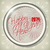 2014 Happy new year hand lettering — Vector de stock