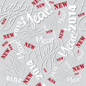 Happy new year hand lettering pattern — Stockvektor