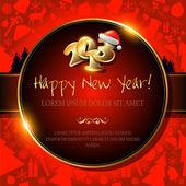 2013 新年矢量卡或用丝带背景 — 图库矢量图片
